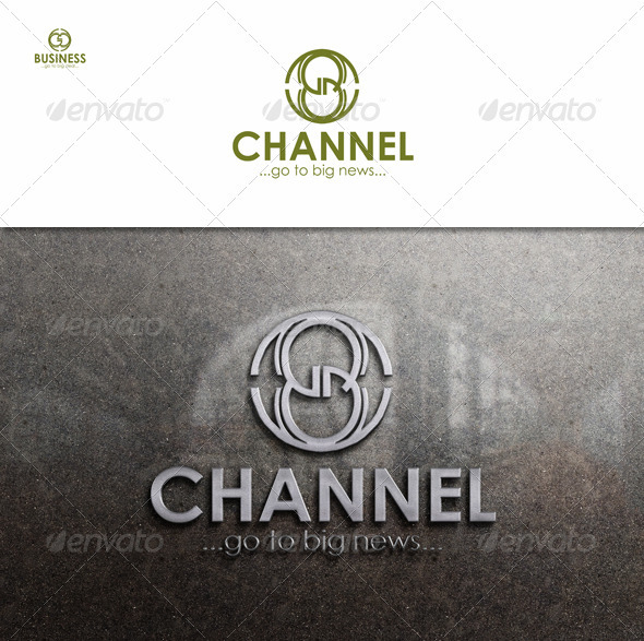 8 Channel Business Logo. - Numbers Logo Templates