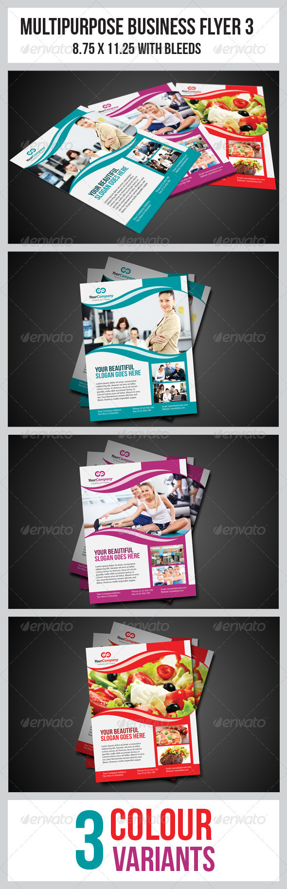 GraphicRiver Multipurpose Business Flyer 3 3377485