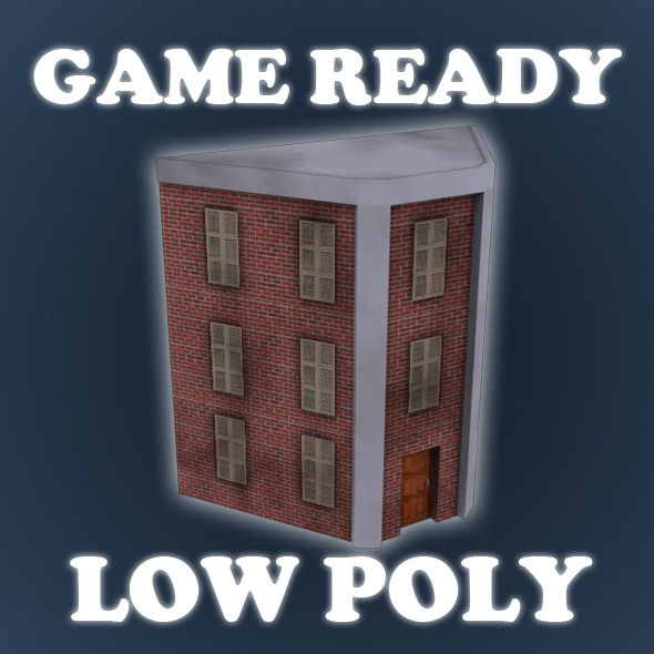 Low Poly Game Building 10 - 3DOcean Item for Sale