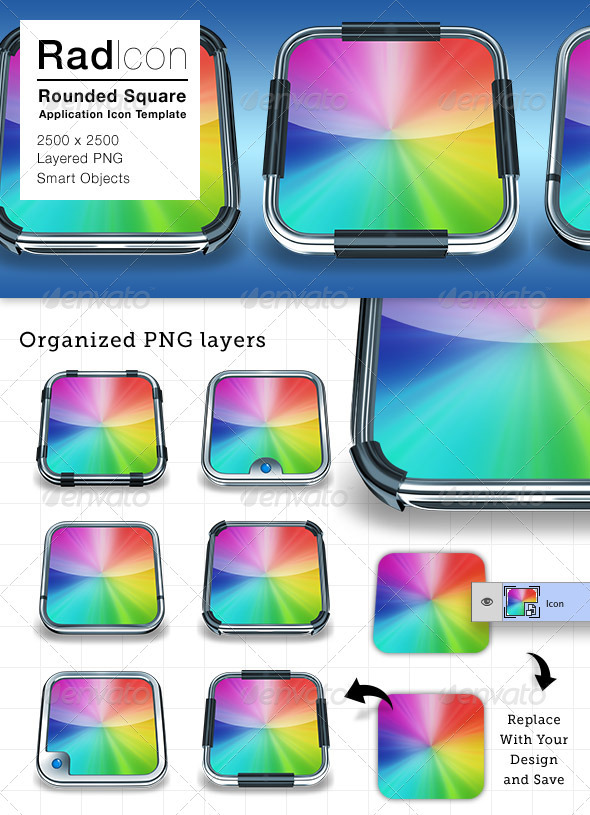 Radicon Application Icon Frames  - Miscellaneous Graphics