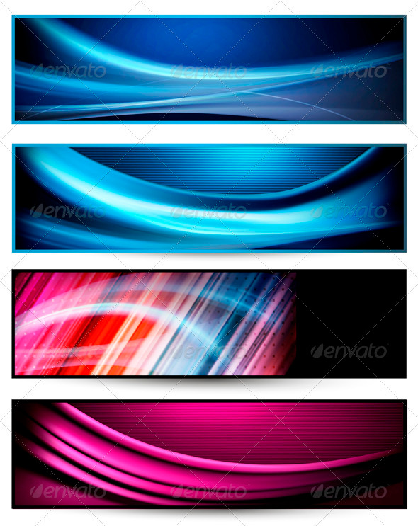 GraphicRiver Set of colorful abstract business banners 3371691