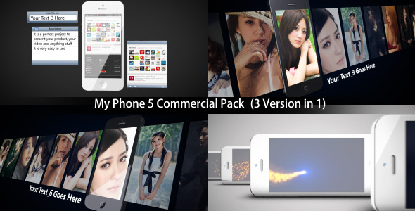After Effects Project - VideoHive My Phone 5 Commercial Pack 3 in 1 3363866