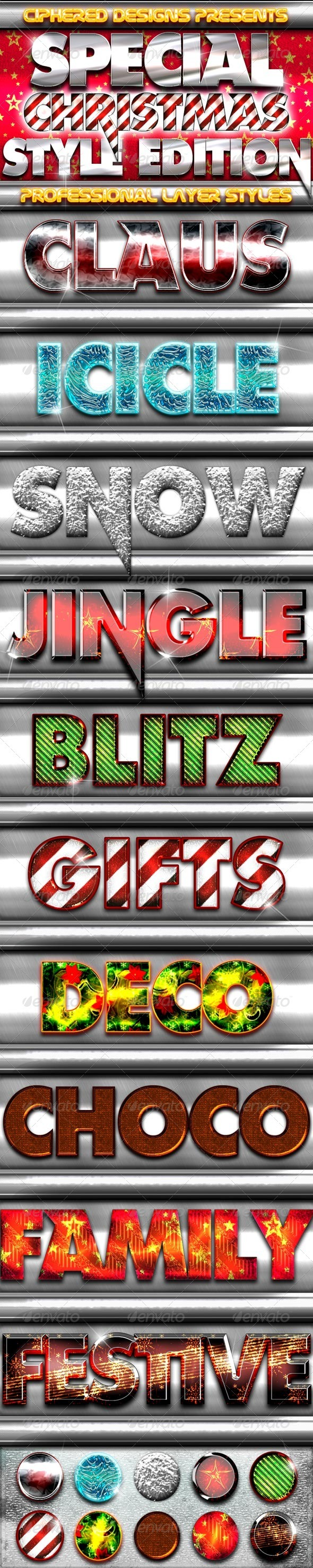Special - Christmas Style Edition - Text Effects Styles