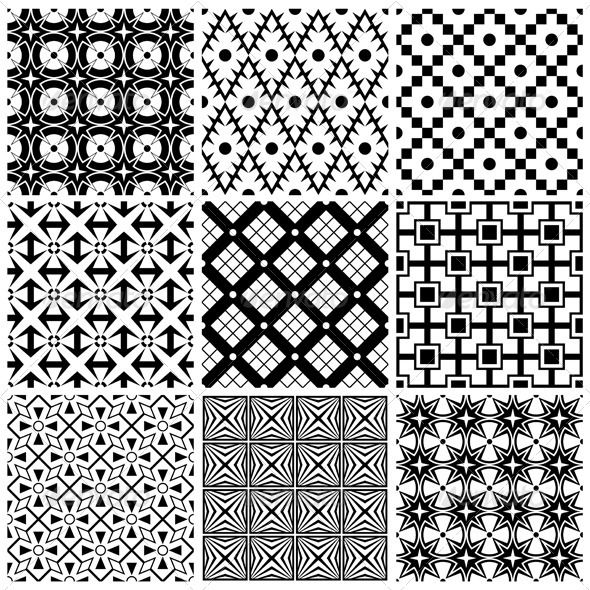 GraphicRiver Simple Black And White Patterns 3377859