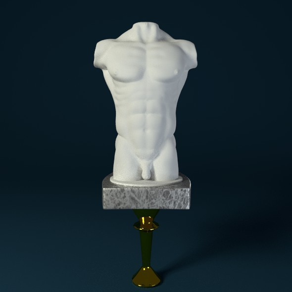 3DOcean Male Body Sculpture 3378095