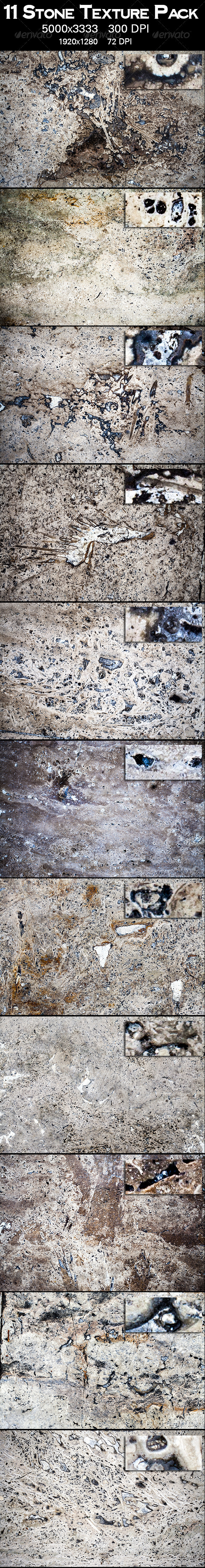 GraphicRiver 11 Stone Texture Pack 3378191