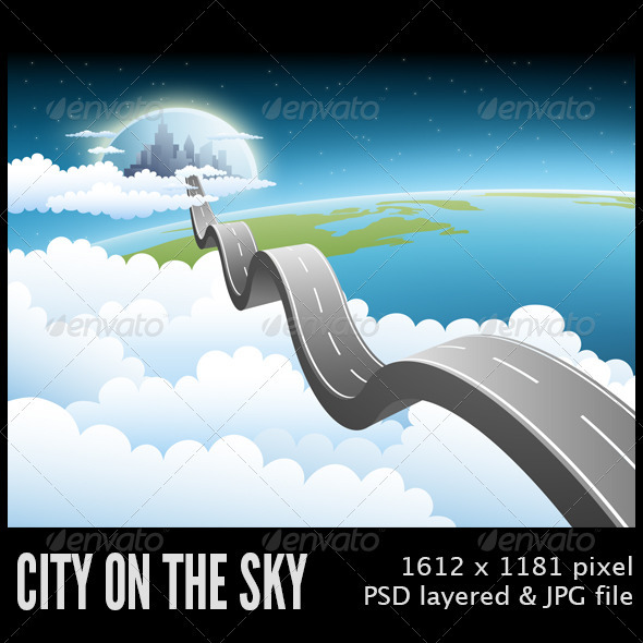 GraphicRiver City on the Sky 3378361