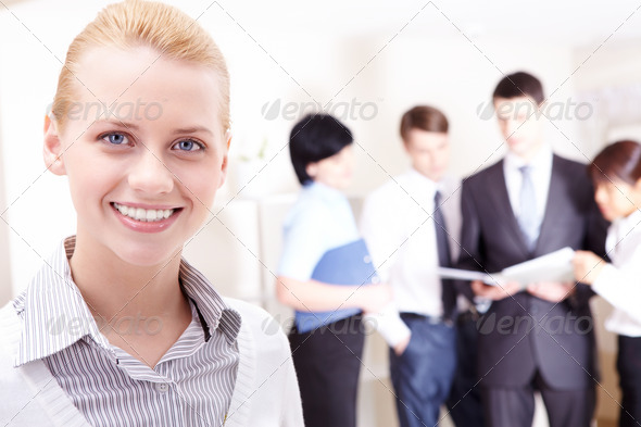 Leader of group - Stock Photo - Images