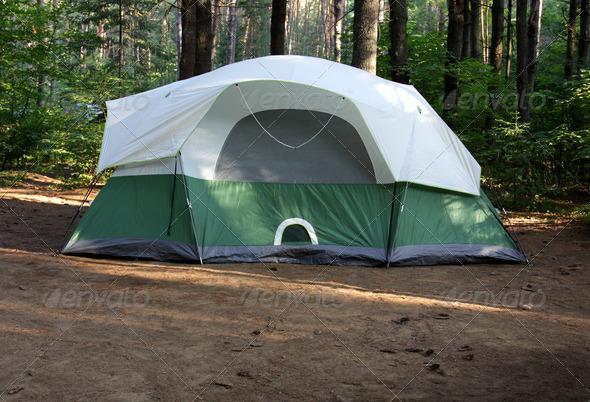PhotoDune Green Tent 3720223