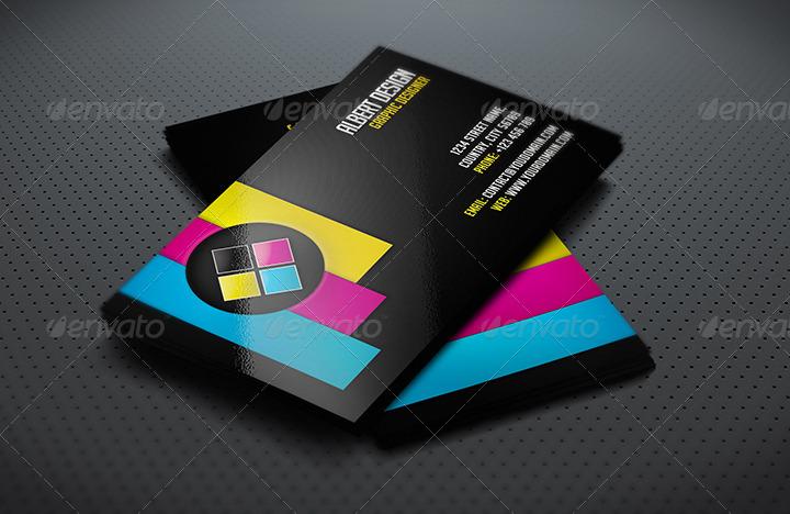 creative cmyk business card by albertdesign