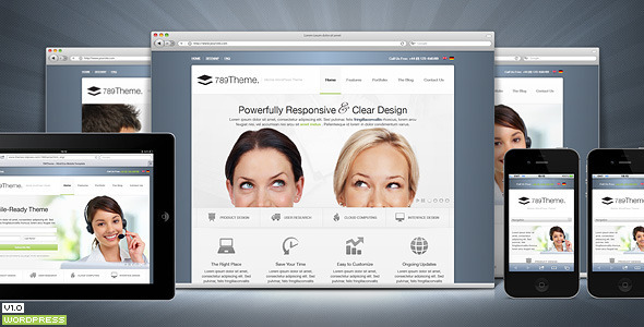 789Theme Premium Responsive Wordpress Theme - Corporate WordPress