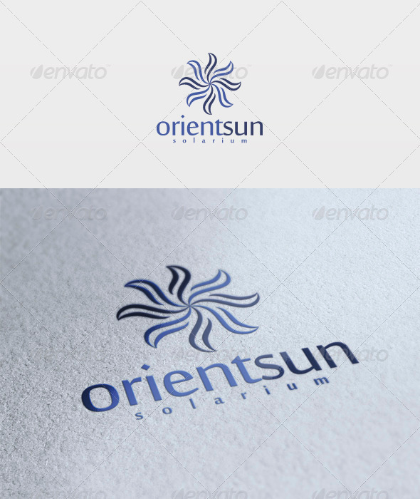 Orient Sun Logo - Vector Abstract
