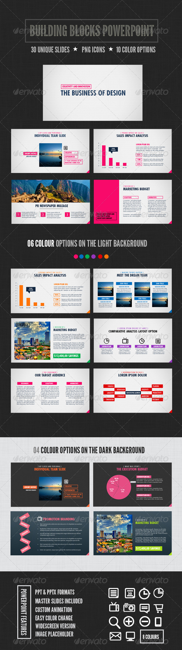 GraphicRiver Building Blocks Powerpoint 3336558
