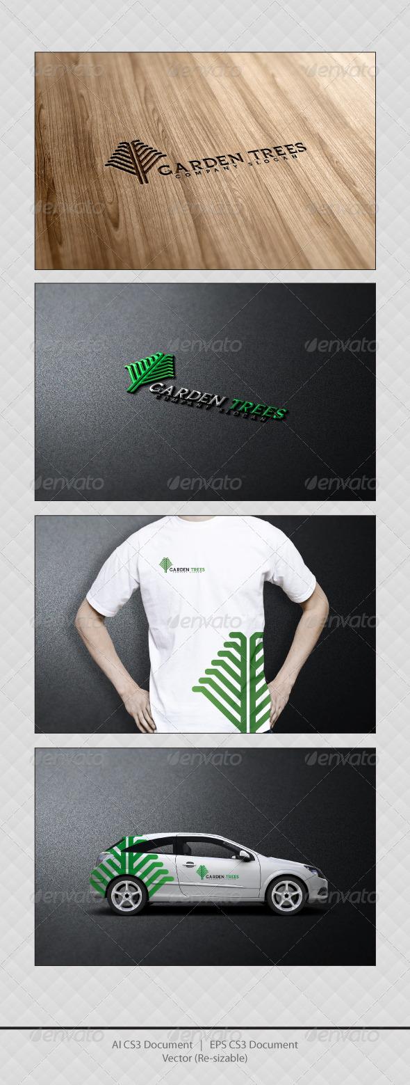 GraphicRiver Garden Trees Logo Templates 3358872