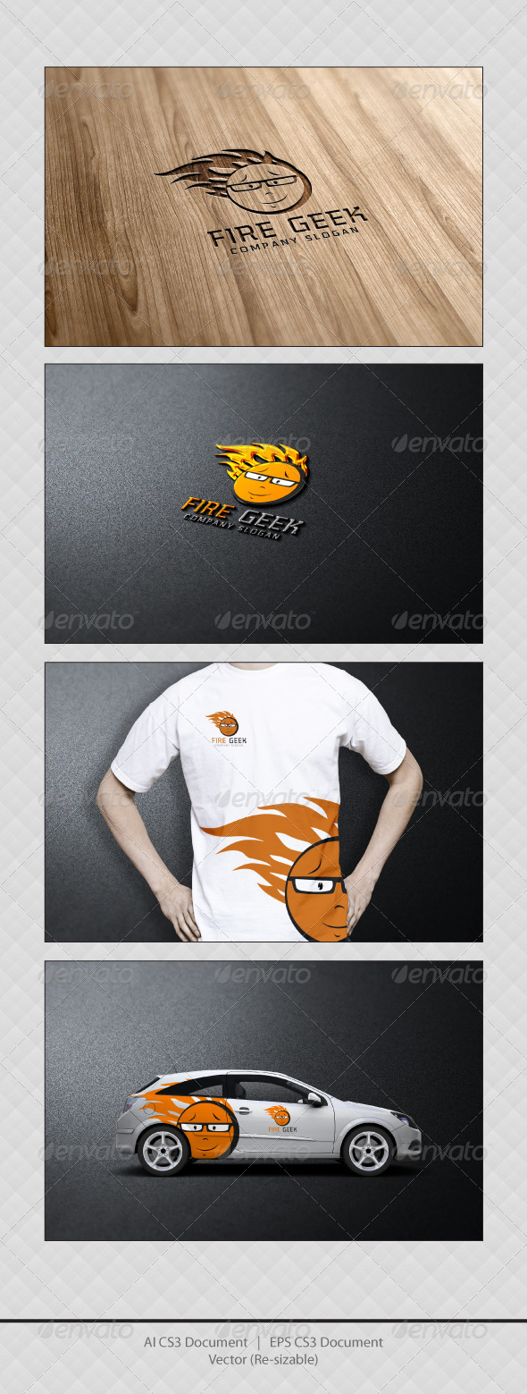 GraphicRiver FIRE GEEK Logo Templates 3354292