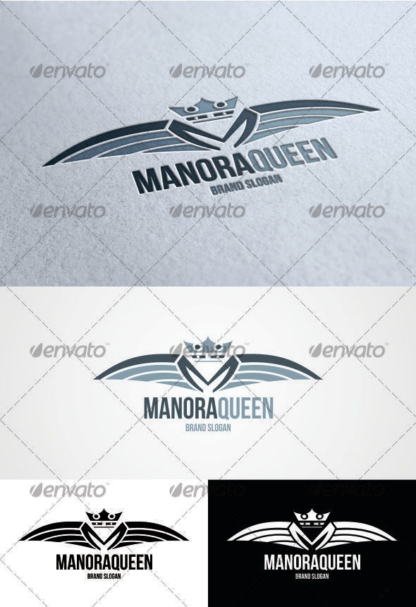 GraphicRiver Manora Queen Logo 3379693