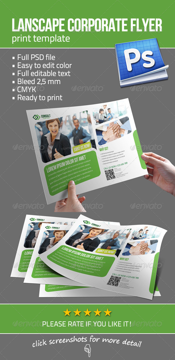 GraphicRiver Lanscape Corporate Flyer 3382812