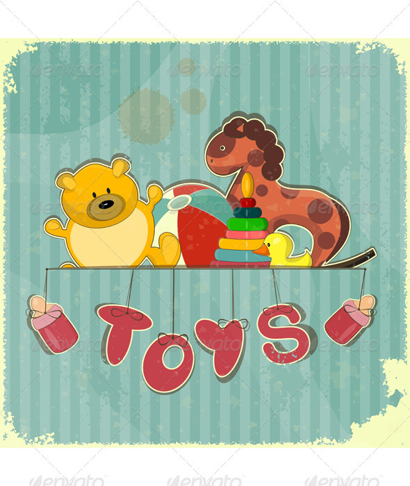 GraphicRiver Vintage Design Toy Shop 3383077