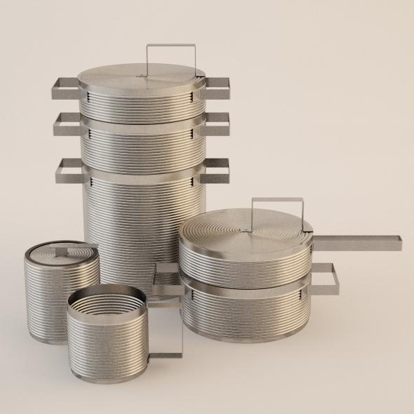 3DOcean Photorealistic Set Design Pots 3383515