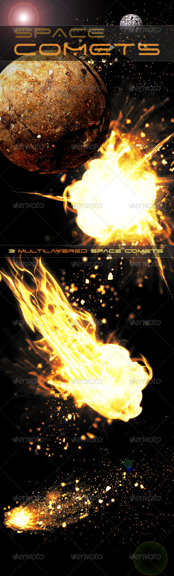 GraphicRiver Space Comets 3383554