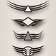 Wings Insignia; Modern Abstract Style - GraphicRiver Item for Sale