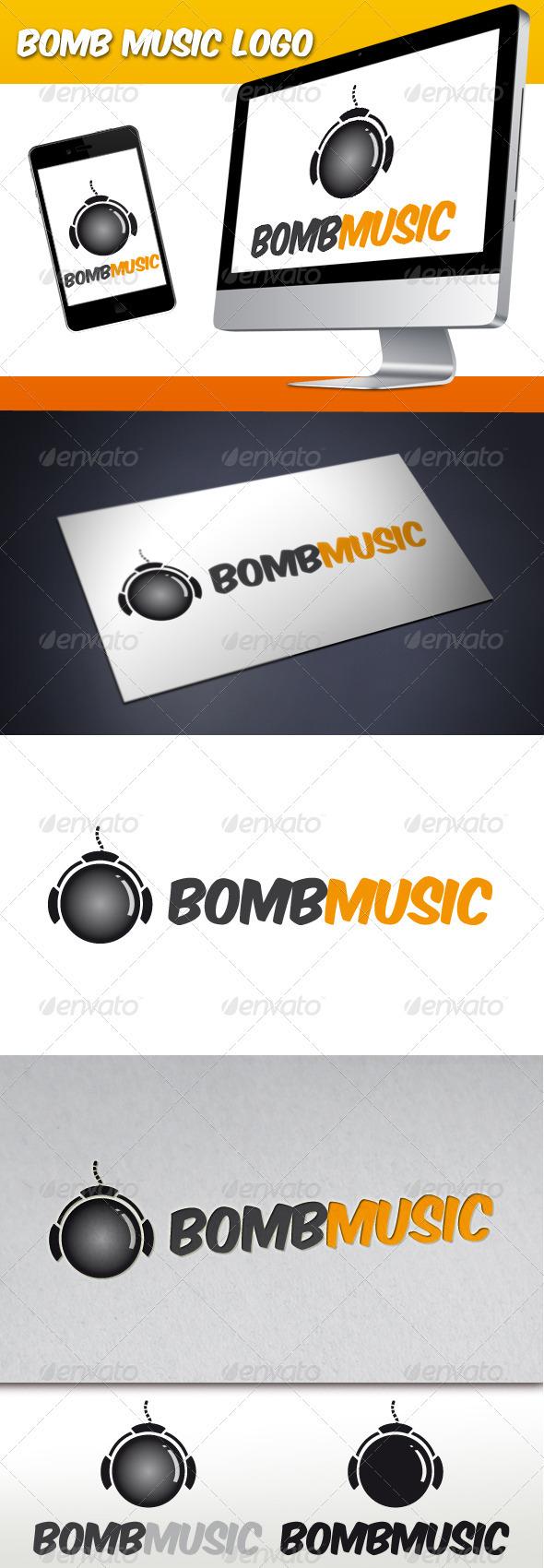 GraphicRiver Bomb Music Logo 3373576