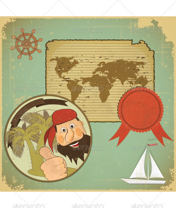 GraphicRiver Pirate and World Map 3383978