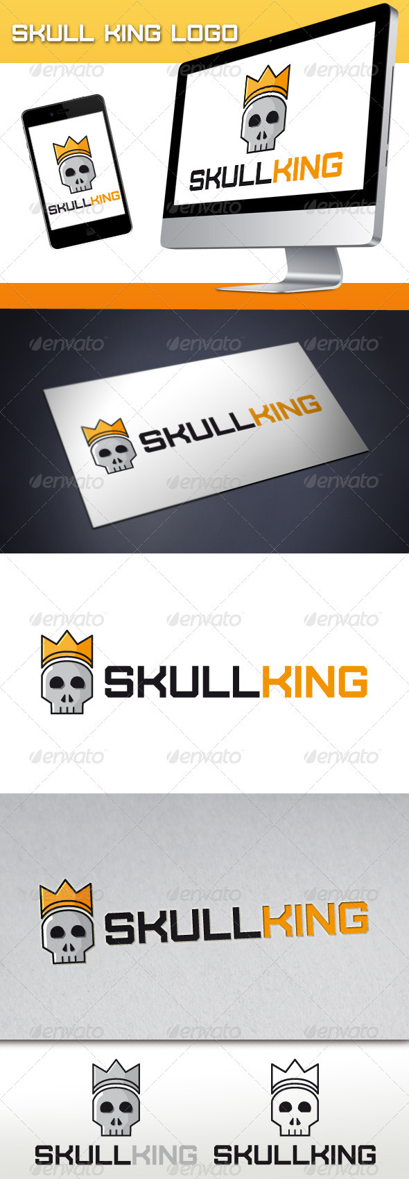 GraphicRiver Skull King Logo 3376950