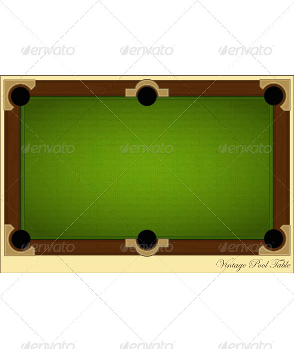 GraphicRiver Vintage Pool Table 3384042