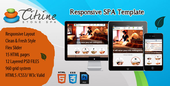 ThemeForest CITRINE STONE SPA Responsive Template 3228298