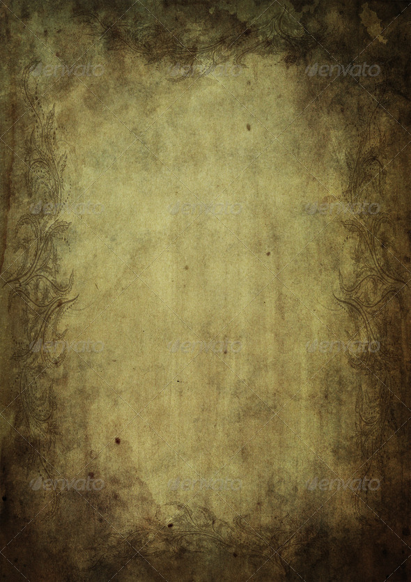Old ornamental paper parchment A4 format 3 - Stock Photo - Images