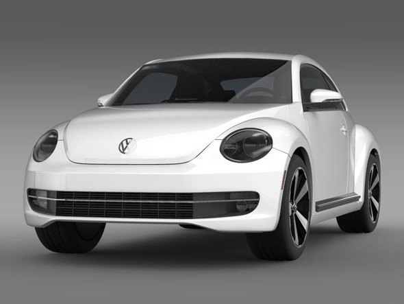 VW Beetle Turbo Black - 3DOcean Item for Sale