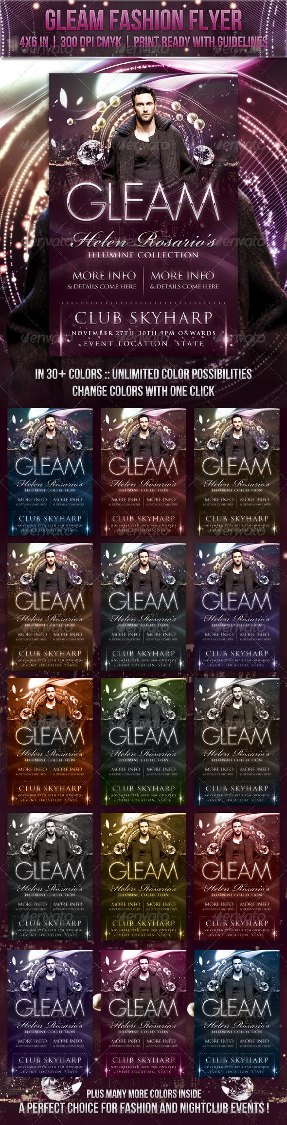 GraphicRiver Gleam Fashion Flyer 3385024