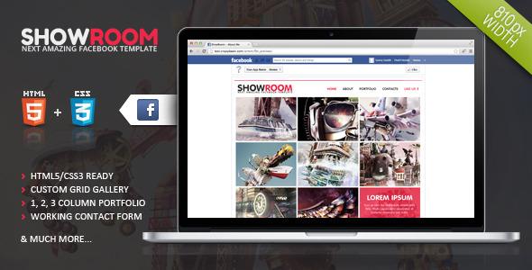 Showroom Timeline Facebook Template
