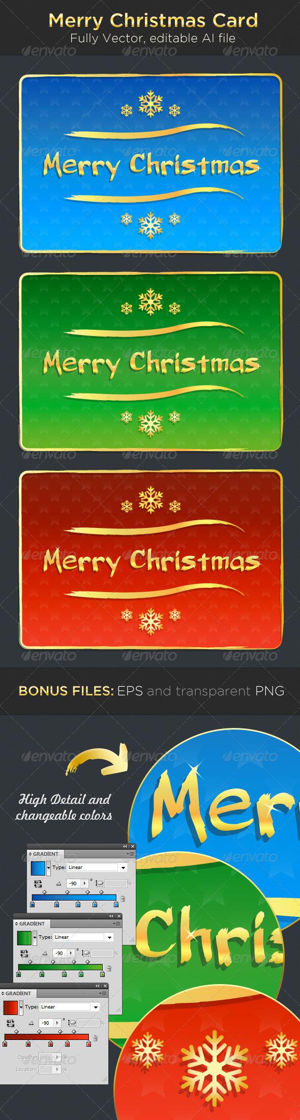 GraphicRiver Merry Christmas Card 3365346