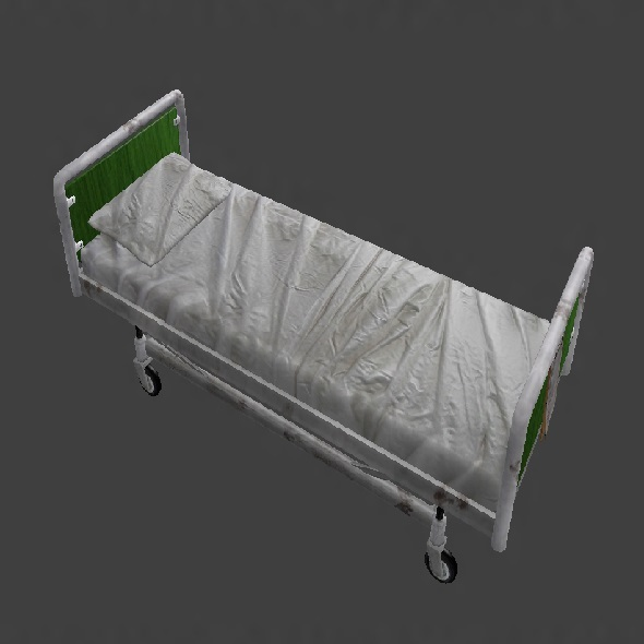 3DOcean Low Poly Hospital Bed 3386148