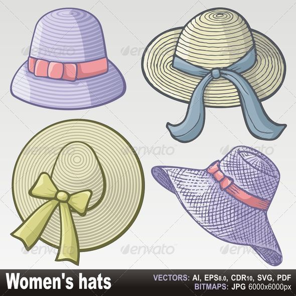 GraphicRiver Women hats 3386347