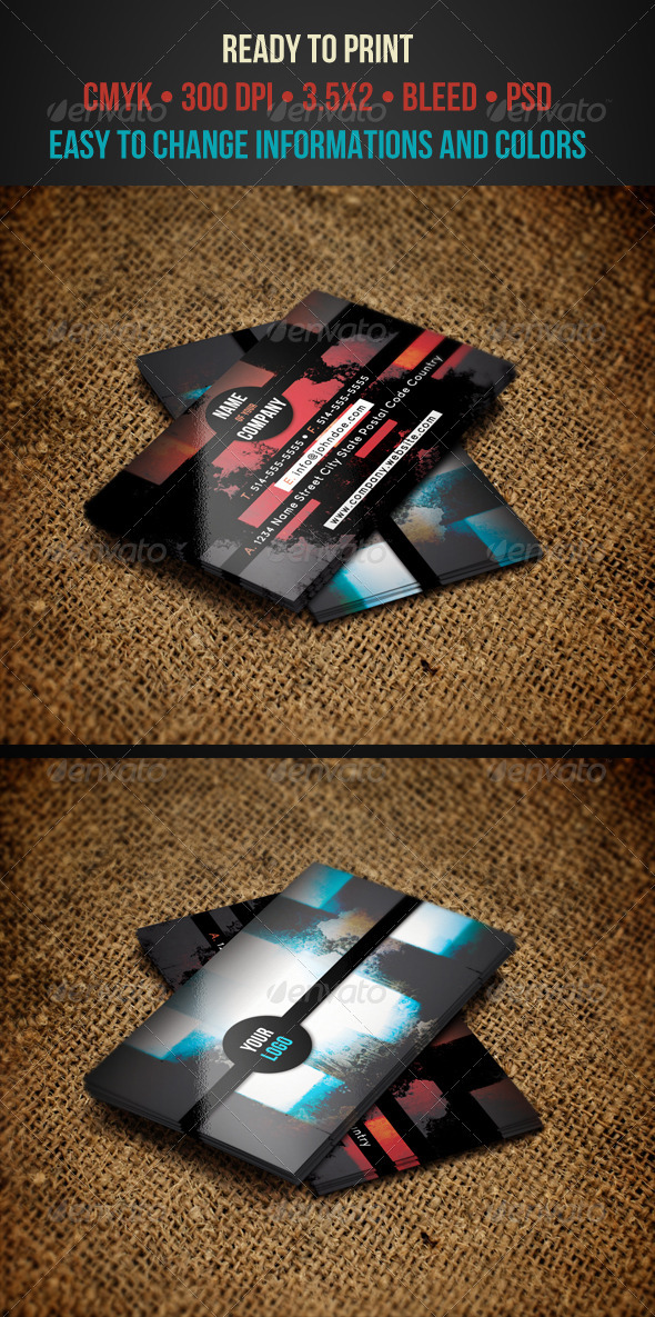 GraphicRiver Grunge Business Cards 3386445