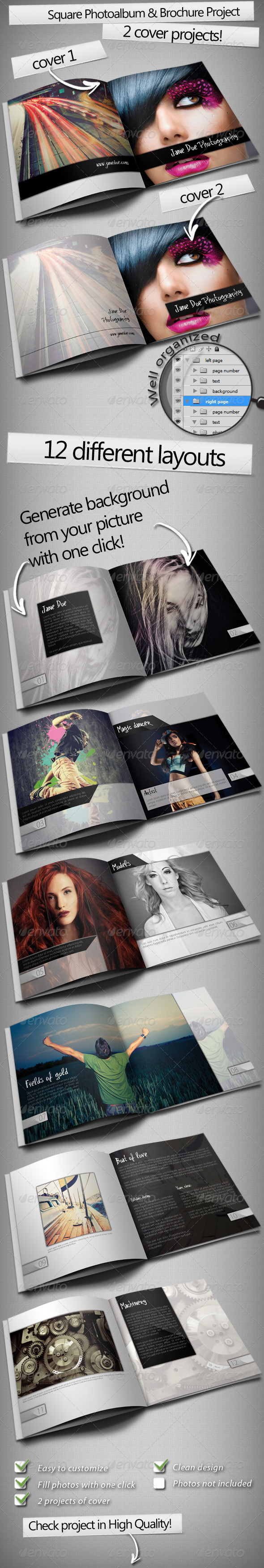 GraphicRiver Square Photo Album & Brochure 3358865