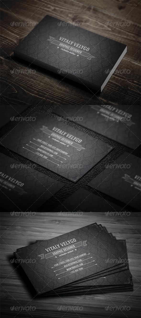 GraphicRiver Vintage Business Card N3 3388762