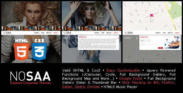 Nosaa Full Page Slider Creative Template