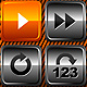 Media Player Icons Set V6 - ActiveDen Item for Sale