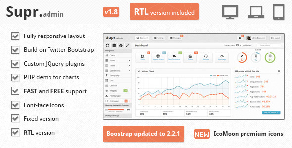 ThemeForest Supr Responsive Admin Template 2834580