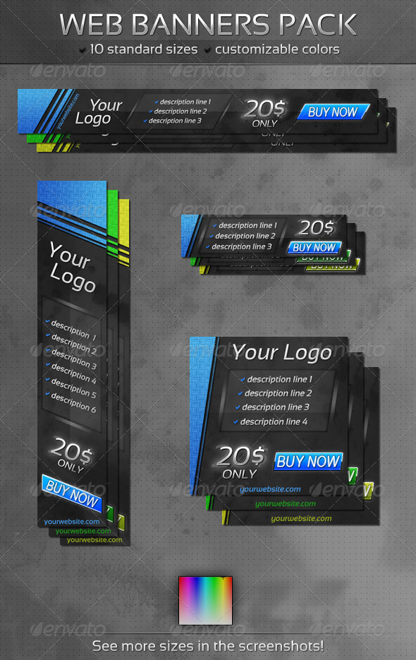 GraphicRiver Slant Web Banners Pack 3368704