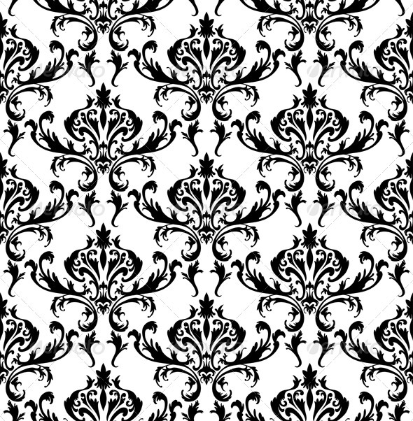 GraphicRiver Damask Seamless Pattern 3391403