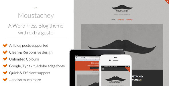 ThemeForest Moustachey A Blog theme with extra gusto 3347168