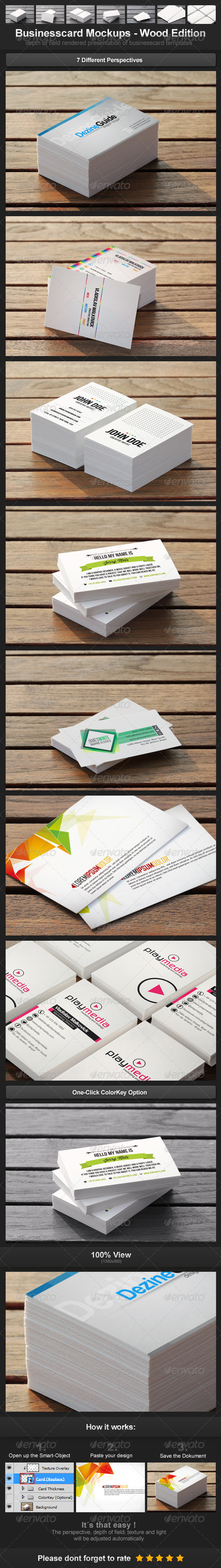 GraphicRiver Businesscard Mockups Wood Edition 3392088