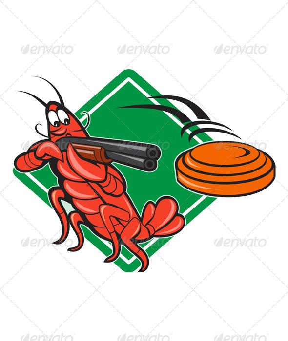 GraphicRiver Crayfish Lobster Target Skeet Shooting 3392214