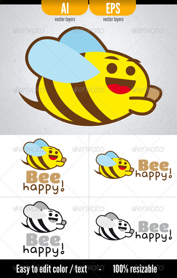 GraphicRiver Bee Happy 3371123