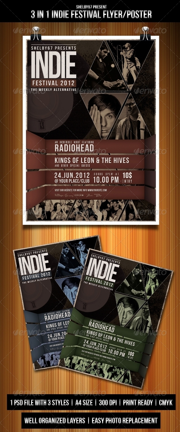 GraphicRiver Indie Festival Flyer Poster 3358773